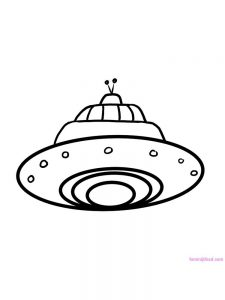 Spaceship Coloring Pages Free