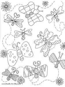 Spring Insects Coloring Pages