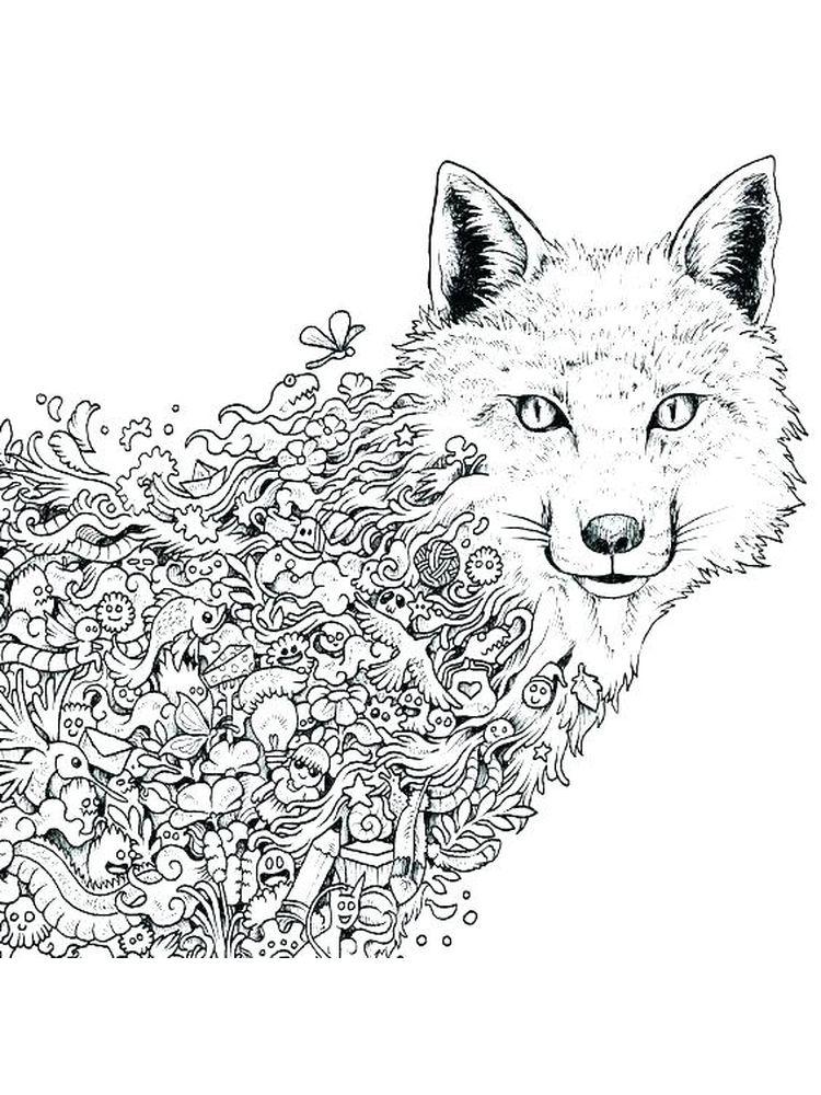 Stone Fox Coloring Pages