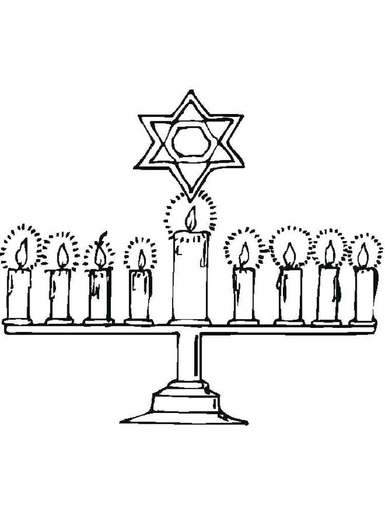 Story Of Hanukkah Coloring Pages