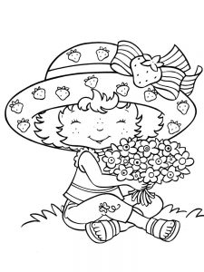 Strawberry Shortcake Ballerina Coloring Page