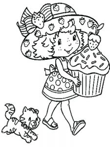 Strawberry Shortcake Ballerina Coloring Pages