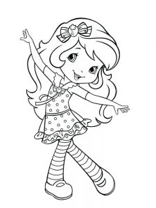 Strawberry Shortcake Character Coloring Pages
