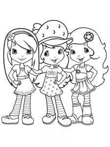 Strawberry Shortcake Coloring Pages Book