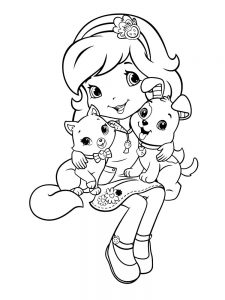 Strawberry Shortcake Coloring Pages For Adults