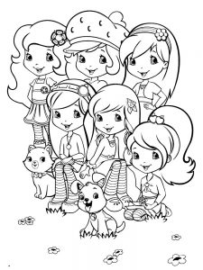 Strawberry Shortcake Coloring Pages New