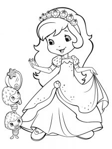 Strawberry Shortcake Coloring Pages Pdf