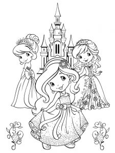 Strawberry Shortcake Coloring Pages Plum