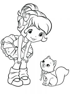 Strawberry Shortcake Colouring In Pages