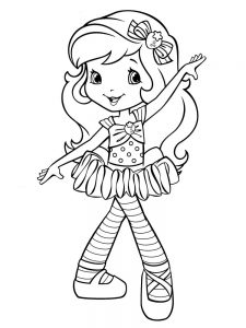 Strawberry Shortcake Girl Coloring Pages