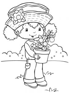 Strawberry Shortcake Lemon Coloring Pages