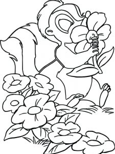Striped Skunk Coloring Page