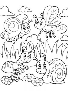 Summer Insects Coloring Pages