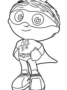 Super Why Coloring Pages Free