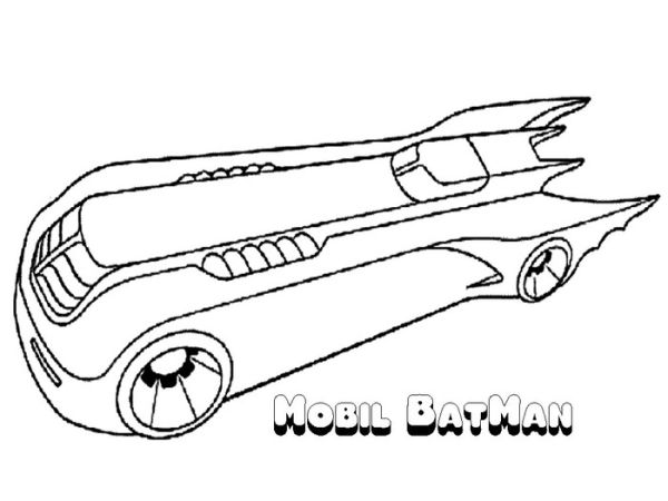 Super car batman coloring pages