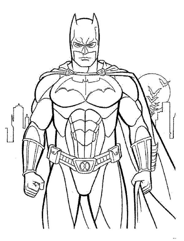 Superhero batman coloring pages