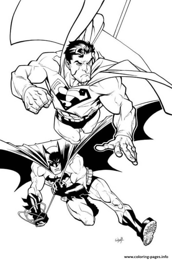 Superman And Batman Coloring Page Coloring Pages Printable