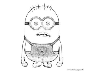 Surprising Minion despicable Me Sadd Coloring Pages Printable