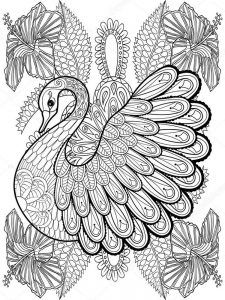 Swan Coloring Pages To Print