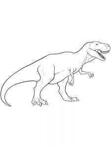 T Rex Coloring Book Pages