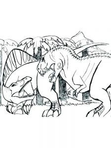 T Rex Colouring Pages Free