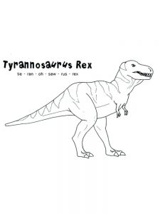 T Rex Family Coloring Pages