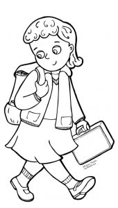 Teacher back to school coloring pages