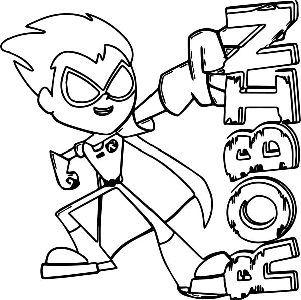 Teen Titans Coloring Pages Robin