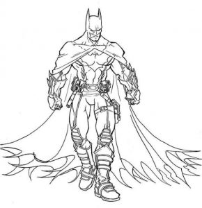 The Amazing Batman Coloring Page