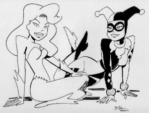 The Batman Adventures Mad Love Coloring page