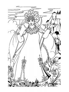 The Princesses Coloring Pages