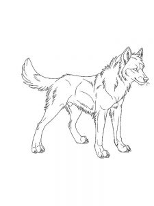 Three Little Wolves Coloring Pages