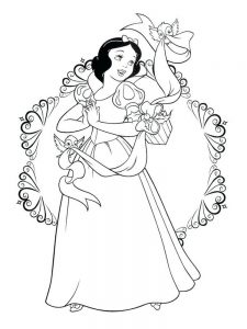 Tiana Coloring Pages Disney