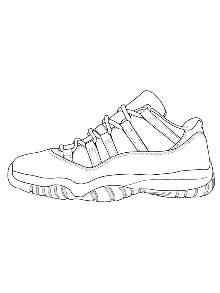 To Print Shoes Coloring Pages