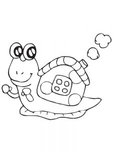 Turbo Snail Coloring Pages Printable