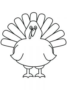 Turkey Coloring Pages Colored