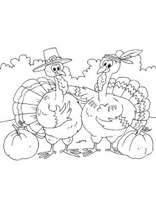Turkey Coloring Pages Free Pdf