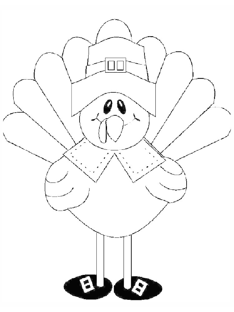 Turkey Coloring Pages Without Feathers