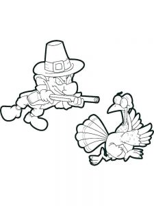 Turkey Cut Out Coloring Pages