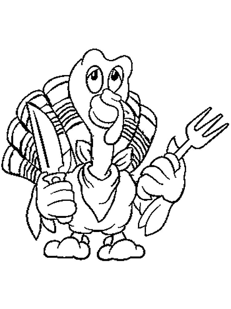 Turkey Day Coloring Pages