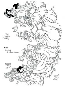 Twelve Dancing Princesses Coloring Pages