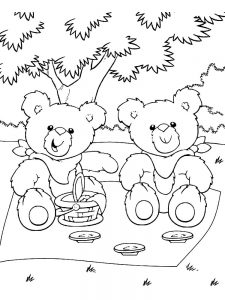 Twin bear coloring pages