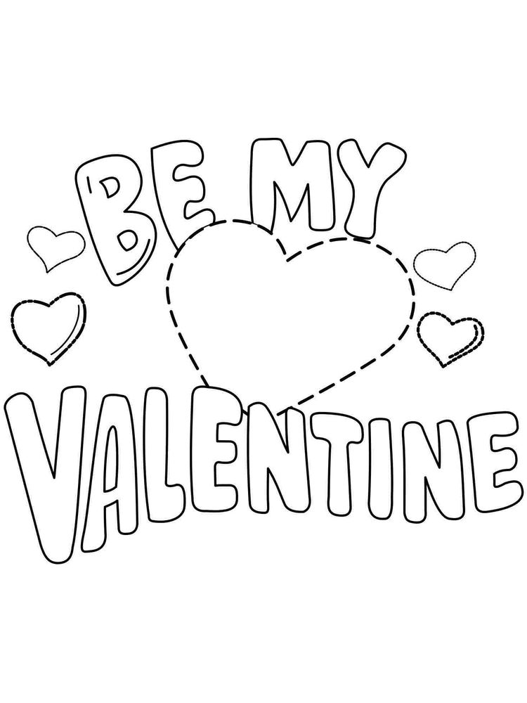 Valentines Day Bible Coloring Pages