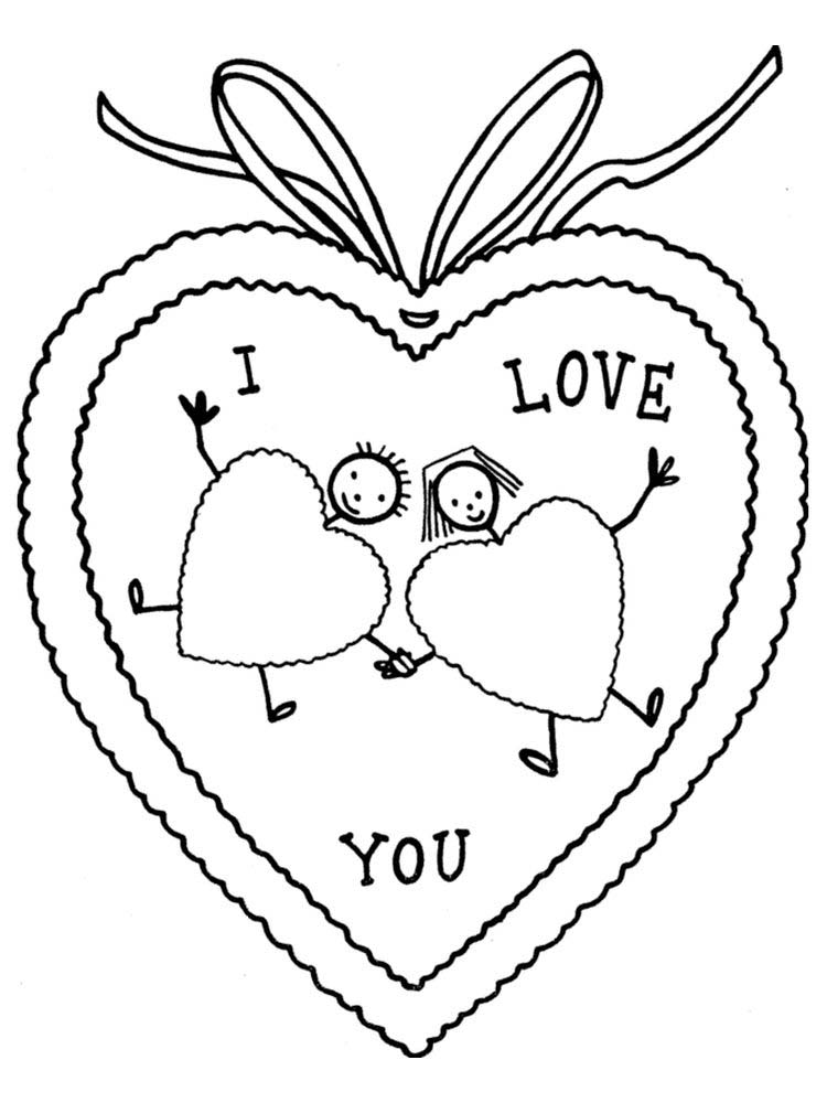 Valentines Day Black And White Coloring Pages