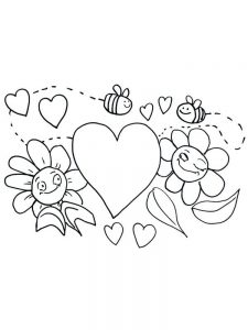 Valentines Day Candy Coloring Pages