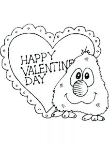 Valentines Day Cartoon Coloring Pages