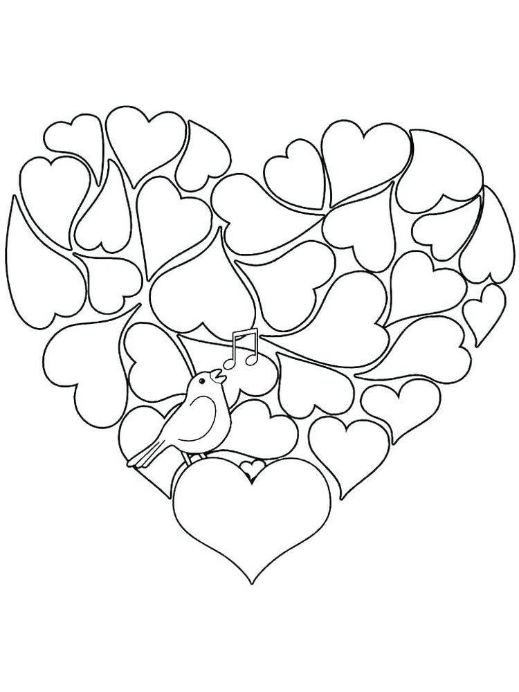 Valentines Day Cat Coloring Pages