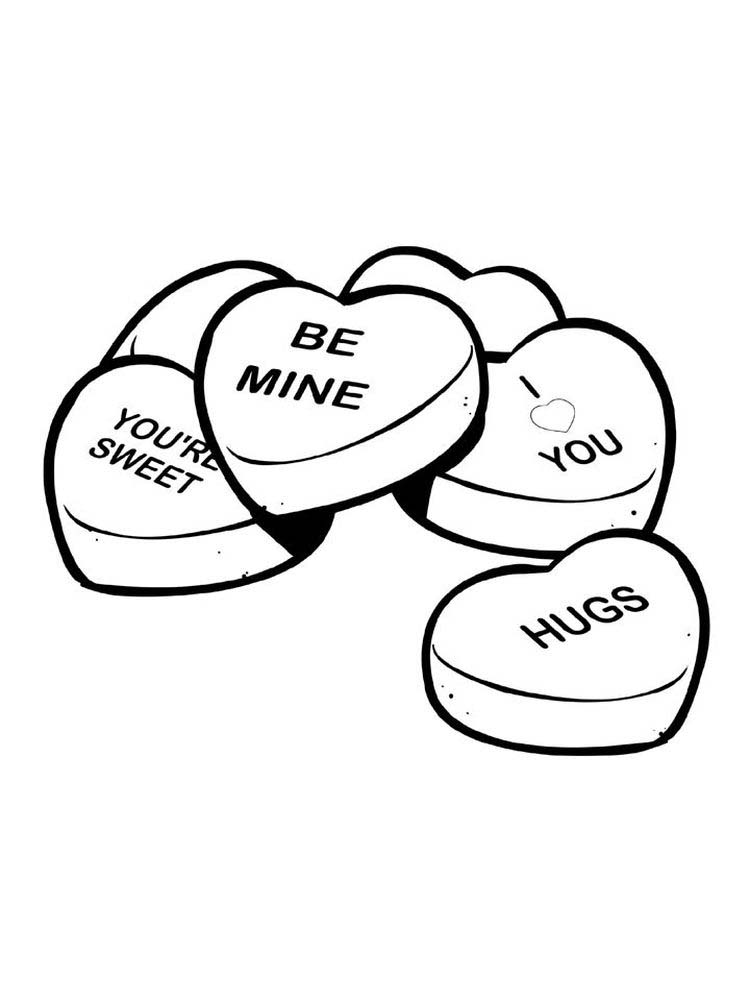 Valentines Day Chocolate Coloring Pages