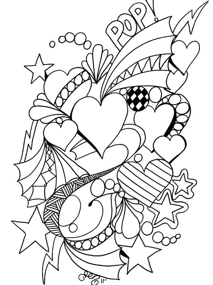 Valentines Day Coloring Pages By Numbers