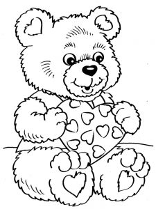 Valentines Day Coloring Pages Printable Cards